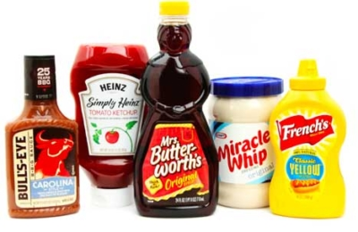bottles of condiments Toxic to avoid